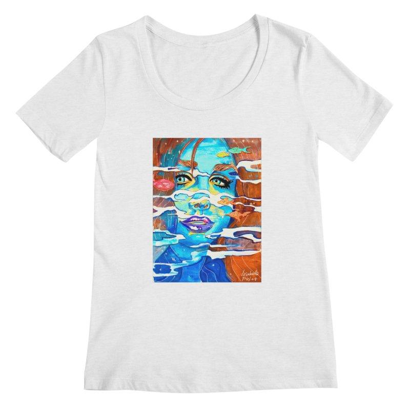 Blue Mermaid Prints Women's Regular Scoop Neck by isabellaprint's Artist Shop
