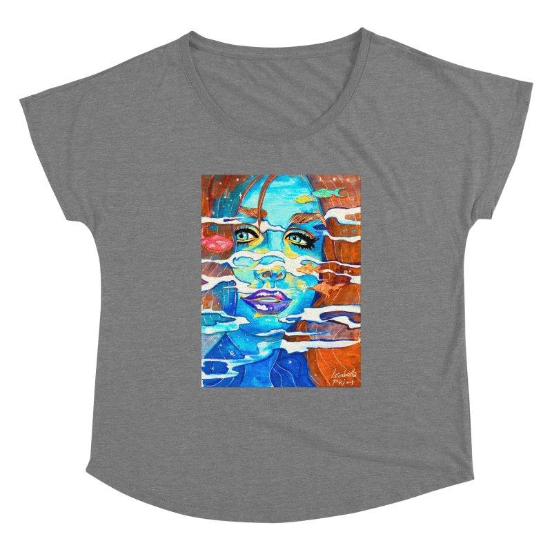 Blue Mermaid Prints Women's Scoop Neck by isabellaprint's Artist Shop