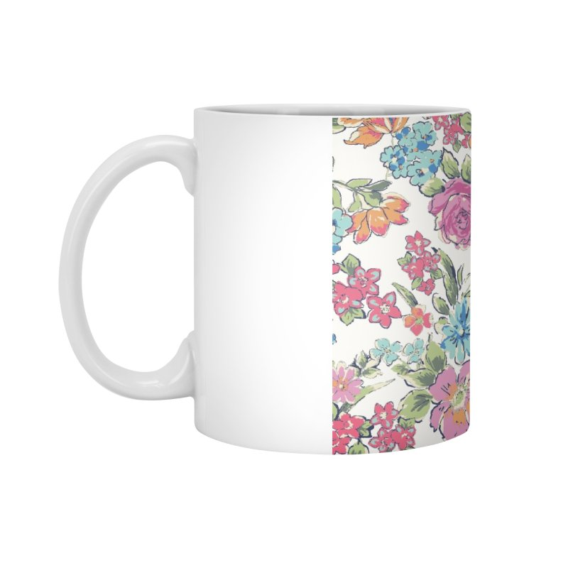 Lively Flowers Accessories Standard Mug by isabellaprint's Artist Shop