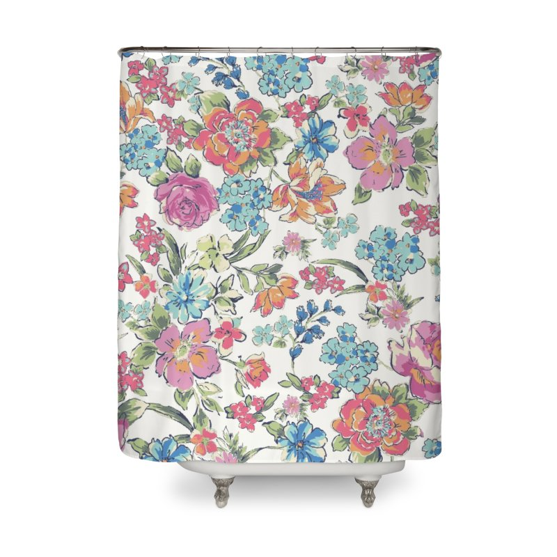 Lively Flowers Home Shower Curtain by isabellaprint's Artist Shop