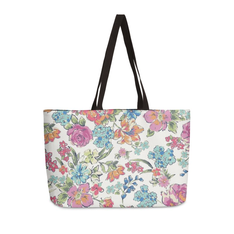 Lively Flowers Accessories Weekender Bag Bag by isabellaprint's Artist Shop