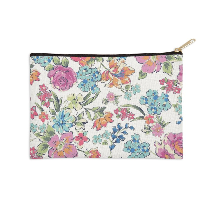Lively Flowers Accessories Zip Pouch by isabellaprint's Artist Shop