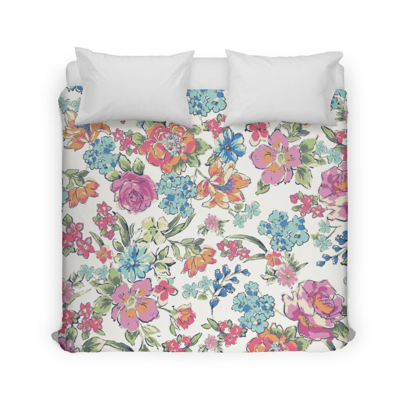 Lively Flowers Home Duvet by isabellaprint's Artist Shop