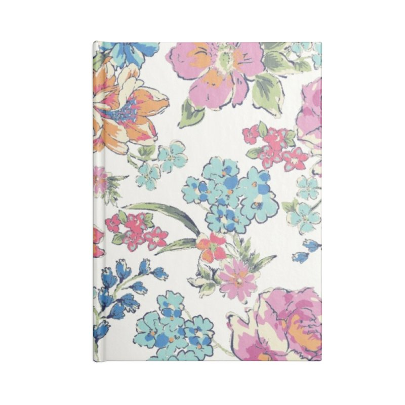 Lively Flowers Accessories Lined Journal Notebook by isabellaprint's Artist Shop