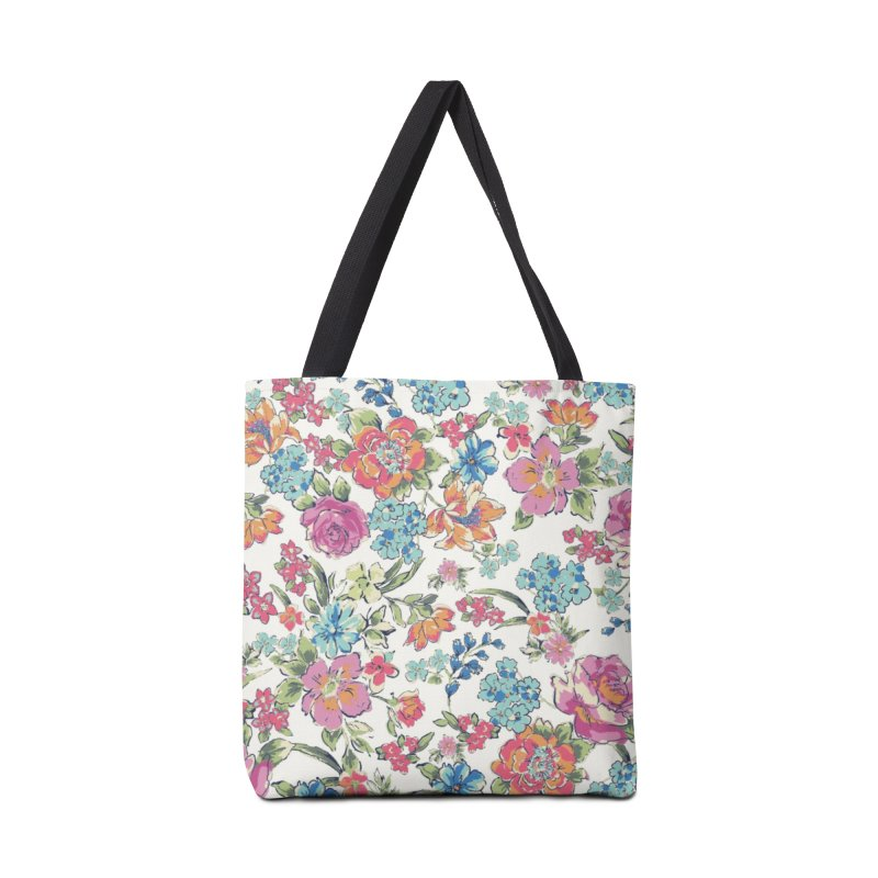 Lively Flowers Accessories Bag by isabellaprint's Artist Shop