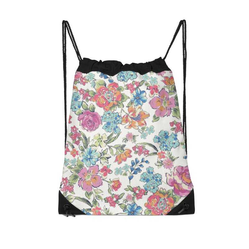 Lively Flowers Accessories Drawstring Bag Bag by isabellaprint's Artist Shop