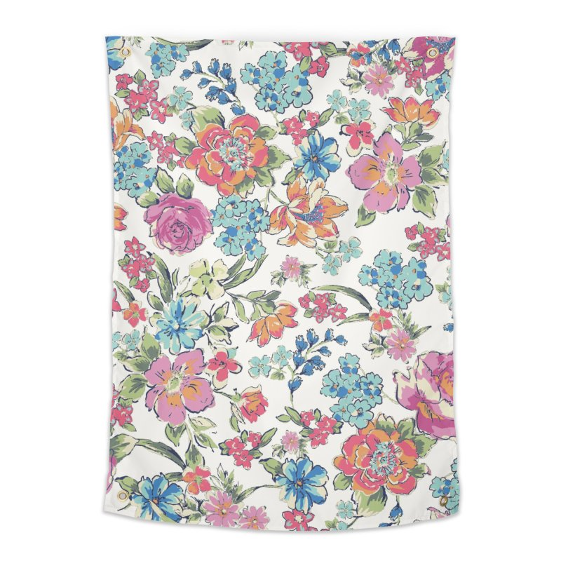 Lively Flowers Home Tapestry by isabellaprint's Artist Shop