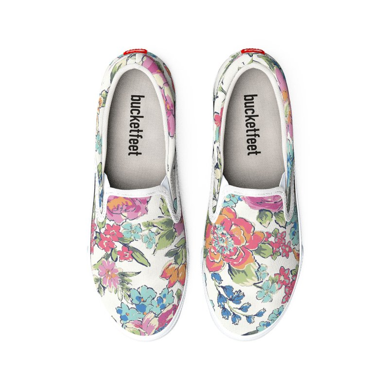 Lively Flowers Men's Shoes by isabellaprint's Artist Shop
