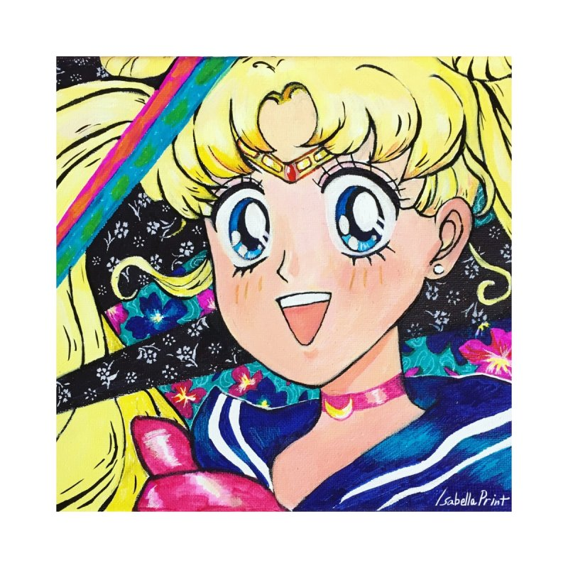 Sailor Moon Prints Home Stretched Canvas by isabellaprint's Artist Shop