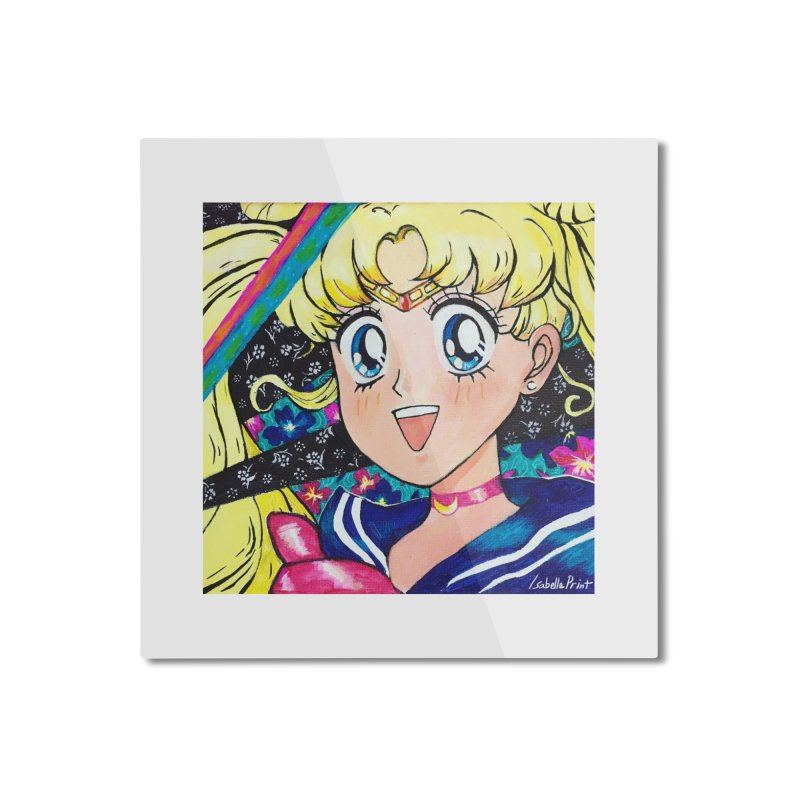 Sailor Moon Prints Home Mounted Aluminum Print by isabellaprint's Artist Shop