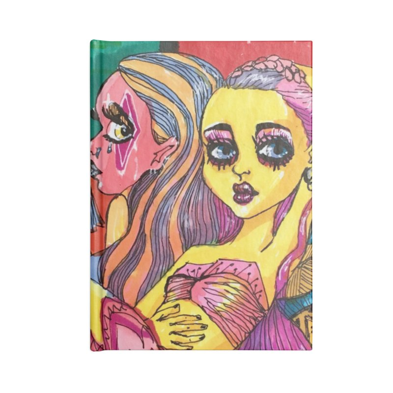 3 Girls Accessories Notebook by isabellaprint's Artist Shop