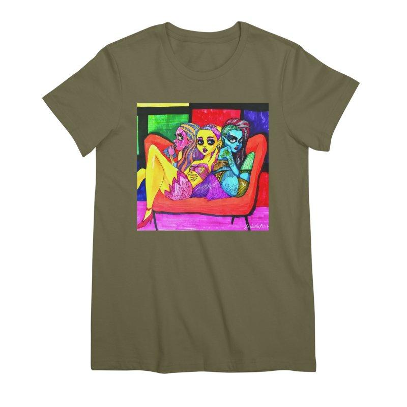 3 Girls Women's Premium T-Shirt by isabellaprint's Artist Shop