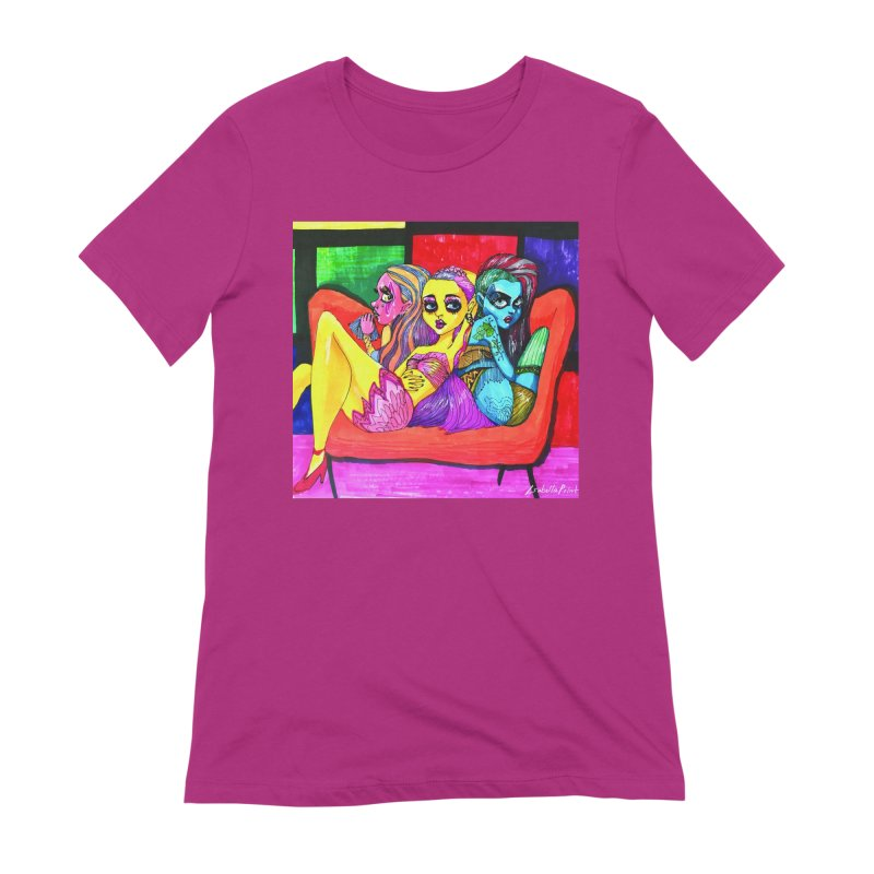 3 Girls Women's Extra Soft T-Shirt by isabellaprint's Artist Shop