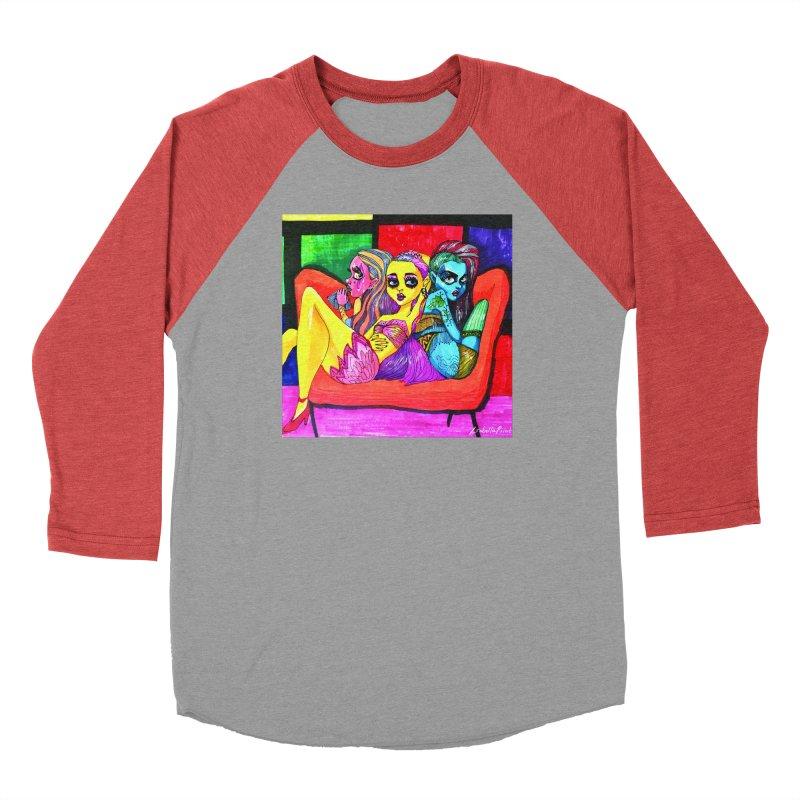 3 Girls Women's Baseball Triblend Longsleeve T-Shirt by isabellaprint's Artist Shop