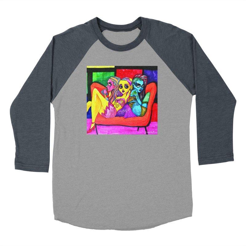 3 Girls Men's Baseball Triblend Longsleeve T-Shirt by isabellaprint's Artist Shop