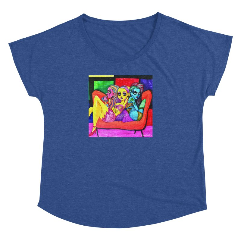 3 Girls Women's Dolman Scoop Neck by isabellaprint's Artist Shop