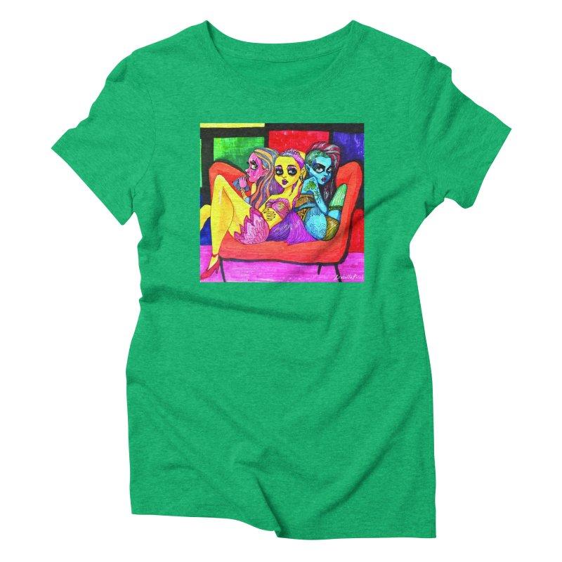 3 Girls Women's Triblend T-Shirt by isabellaprint's Artist Shop