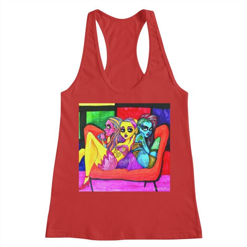 3 Girls Women's Racerback Tank by isabellaprint's Artist Shop