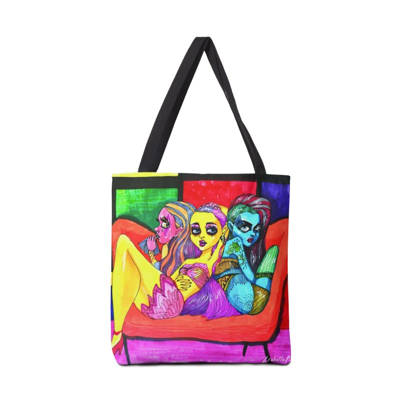 3 Girls Accessories Tote Bag Bag by isabellaprint's Artist Shop