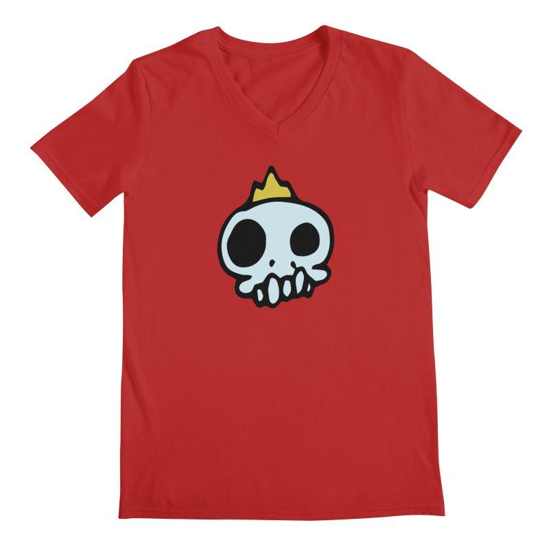 Skull King Men's V-Neck by Petty Apparel