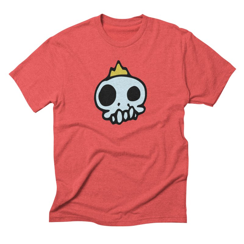 Skull King Men's Triblend T-shirt by Petty Apparel