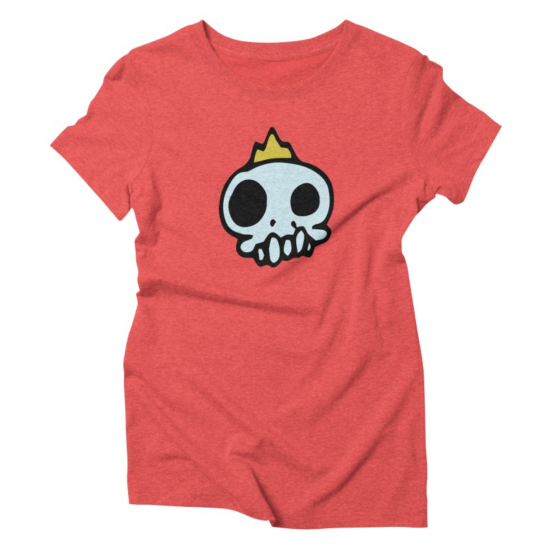 Skull King Women's Triblend T-shirt by Petty Apparel