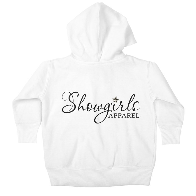 Showgirls Apparel - Black Kids Baby Zip-Up Hoody by ishCreatives's Artist Shop