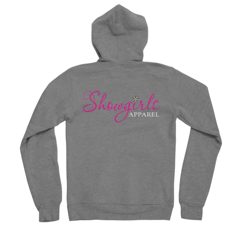 Showgirls Apparel - Pink Women's Sponge Fleece Zip-Up Hoody by ishCreatives's Artist Shop