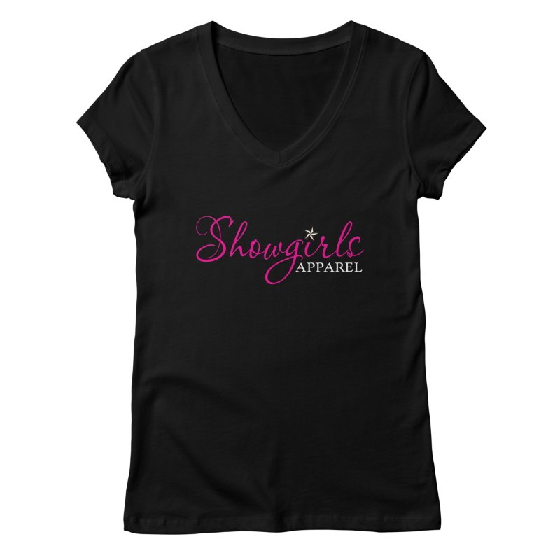 Showgirls Apparel - Pink Women's Regular V-Neck by ishCreatives's Artist Shop