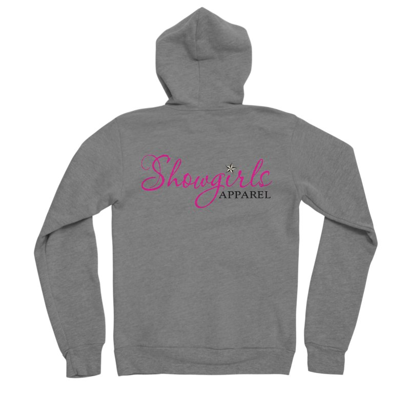 Showgirls Apprel - Pink & Black Women's Sponge Fleece Zip-Up Hoody by ishCreatives's Artist Shop