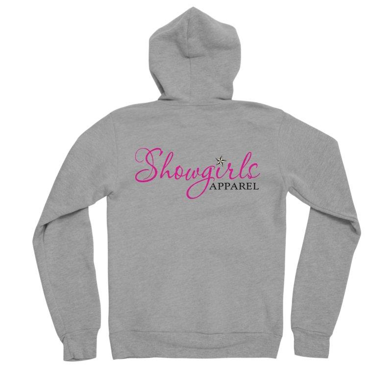 Showgirls Apprel - Pink & Black Women's Sponge Fleece Zip-Up Hoody by ishCreatives's Artist Shop