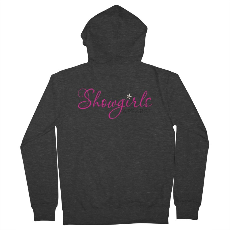 Showgirls Apprel - Pink & Black Women's French Terry Zip-Up Hoody by ishCreatives's Artist Shop