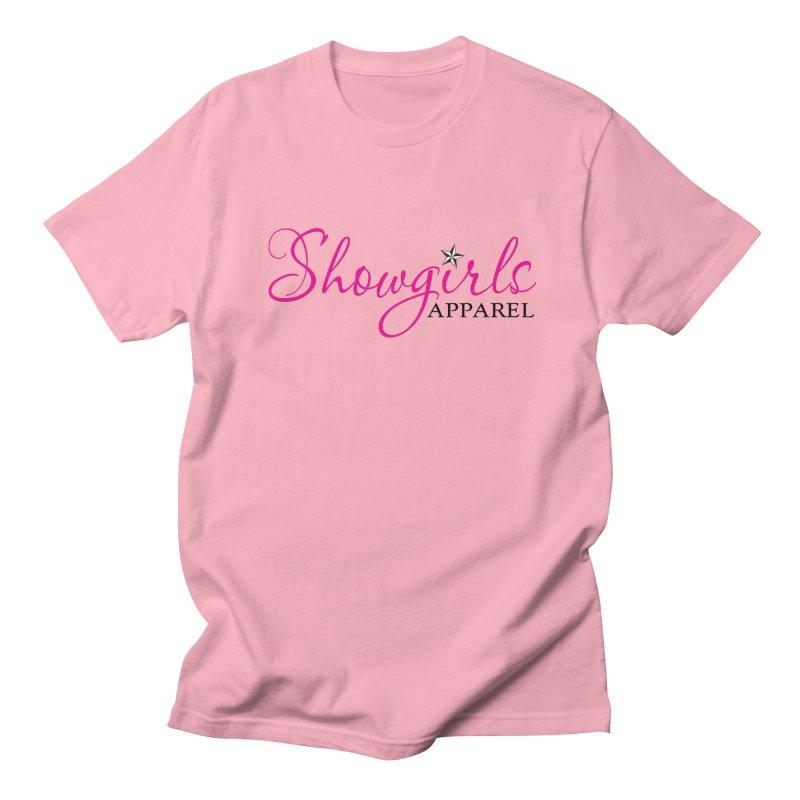 Showgirls Apprel - Pink & Black Women's Regular Unisex T-Shirt by ishCreatives's Artist Shop