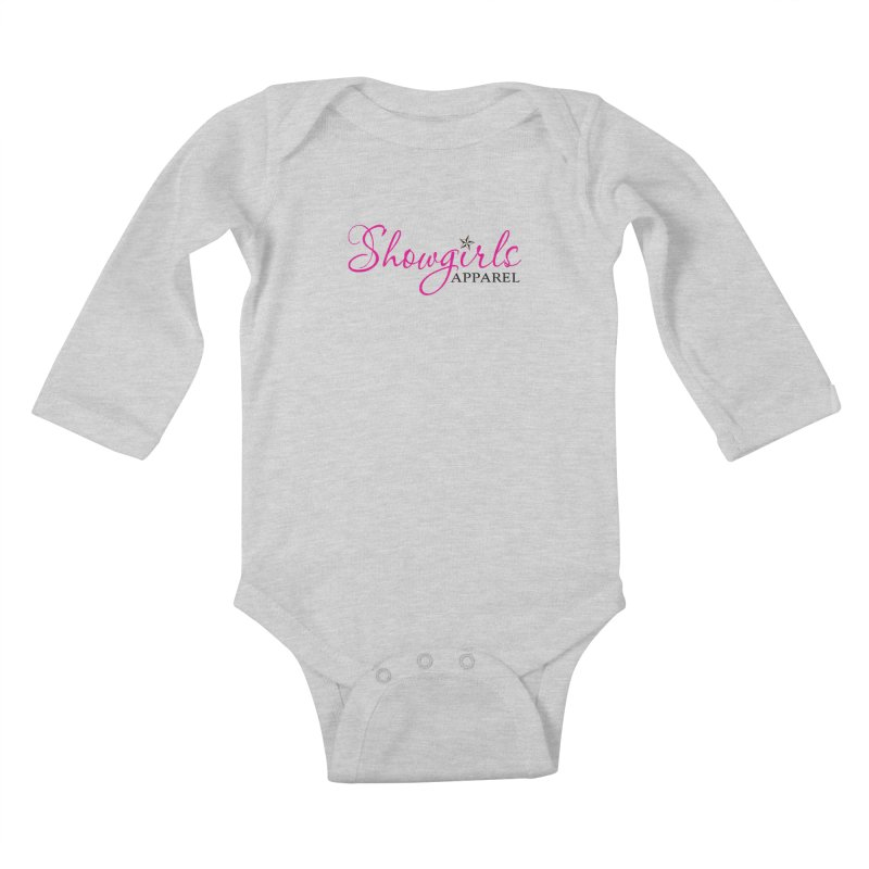 Showgirls Apprel - Pink & Black Kids Baby Longsleeve Bodysuit by ishCreatives's Artist Shop