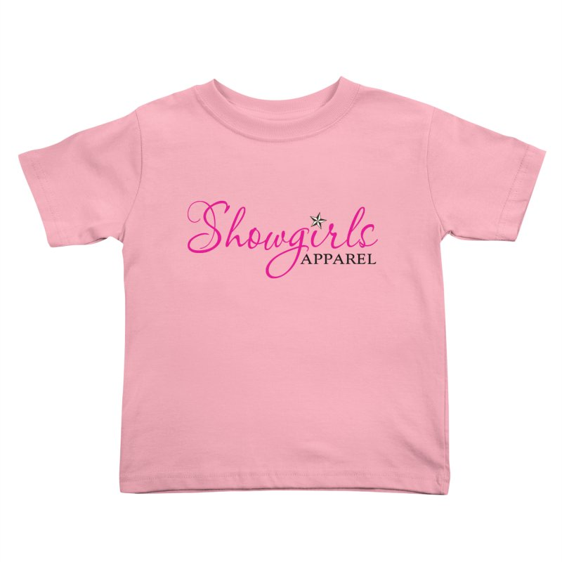 Showgirls Apprel - Pink & Black Kids Toddler T-Shirt by ishCreatives's Artist Shop