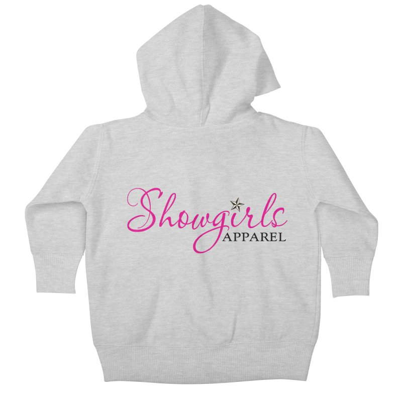 Showgirls Apprel - Pink & Black Kids Baby Zip-Up Hoody by ishCreatives's Artist Shop