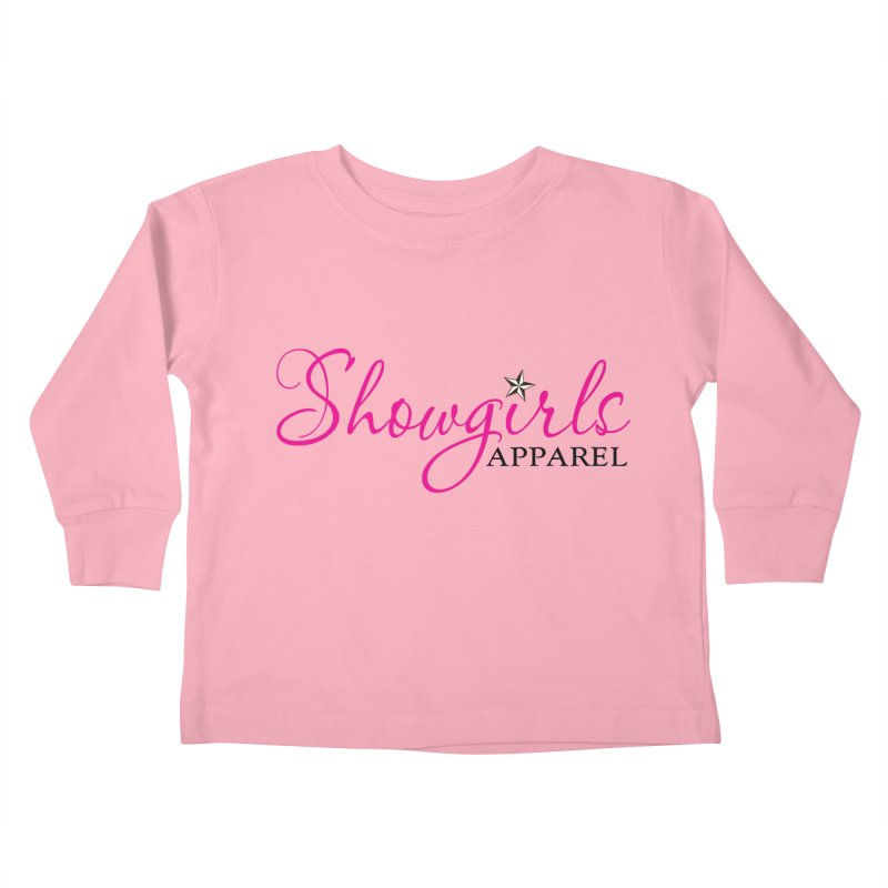 Showgirls Apprel - Pink & Black Kids Toddler Longsleeve T-Shirt by ishCreatives's Artist Shop