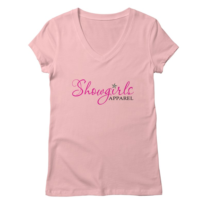 Showgirls Apprel - Pink & Black Women's Regular V-Neck by ishCreatives's Artist Shop