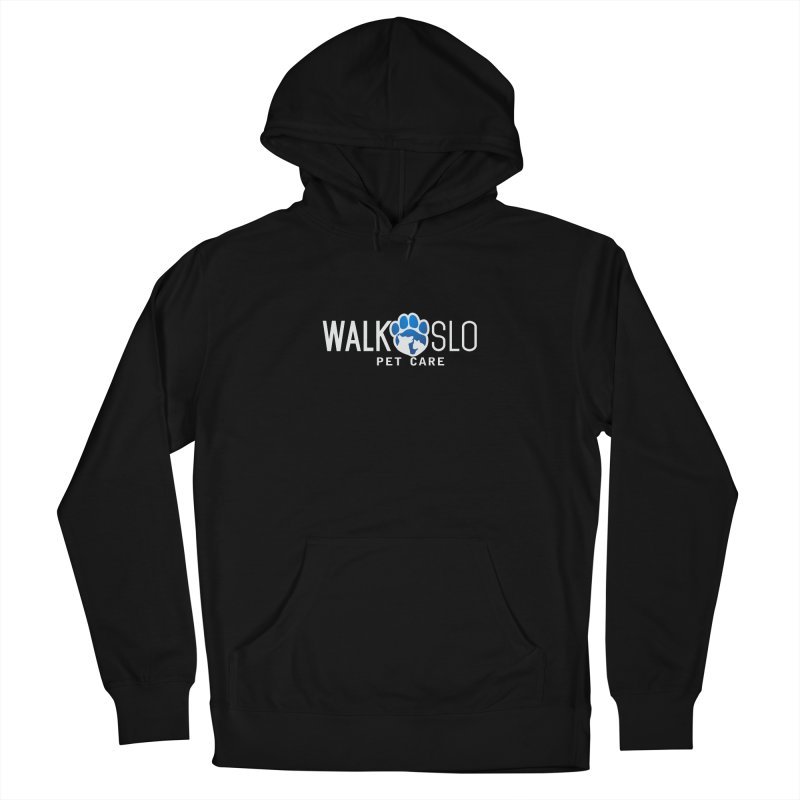 Walk SLO in Women's French Terry Pullover Hoody Black by ishCreatives's Artist Shop
