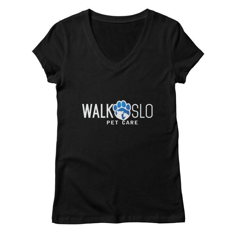 Walk SLO in Women's Regular V-Neck Black by ishCreatives's Artist Shop