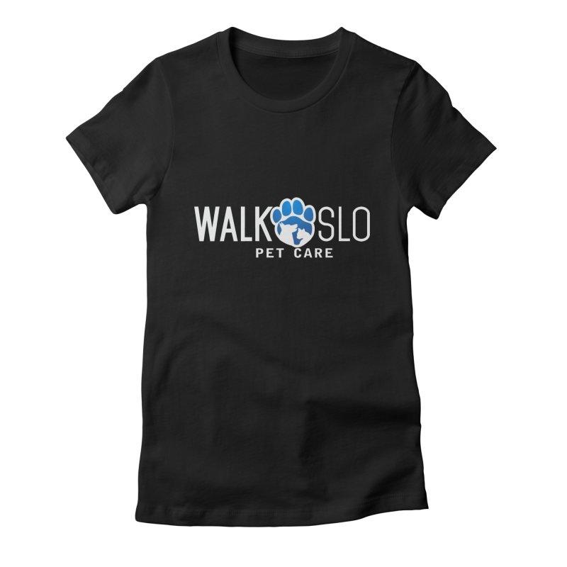Walk SLO in Women's Fitted T-Shirt Black by ishCreatives's Artist Shop