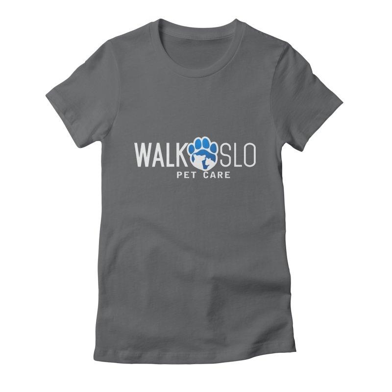 Walk SLO in Women's Fitted T-Shirt Heavy Metal by ishCreatives's Artist Shop