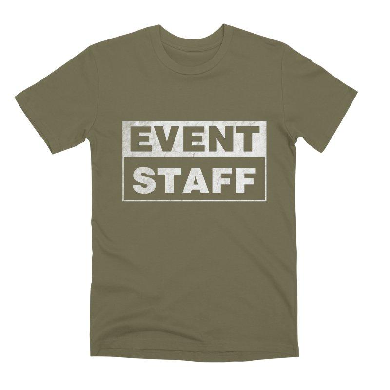 EVENT STAFF - Dark in Men's Premium T-Shirt Olive by ishCreatives's Artist Shop