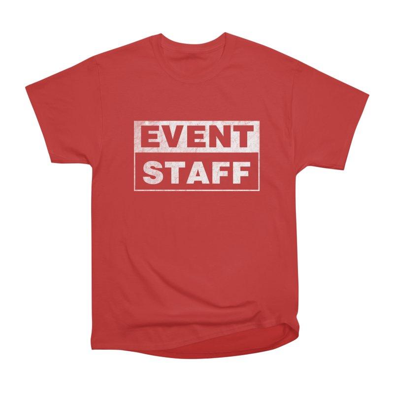 EVENT STAFF - Dark in Men's Heavyweight T-Shirt Red by ishCreatives's Artist Shop