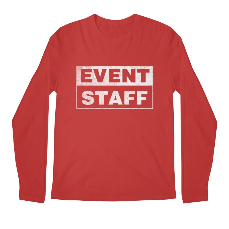 EVENT STAFF - Dark in Men's Regular Longsleeve T-Shirt Red by ishCreatives's Artist Shop