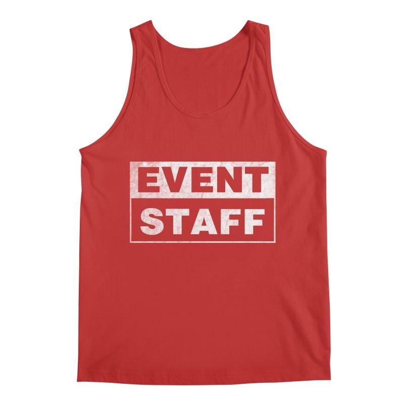 EVENT STAFF - Dark in Men's Regular Tank Red by ishCreatives's Artist Shop