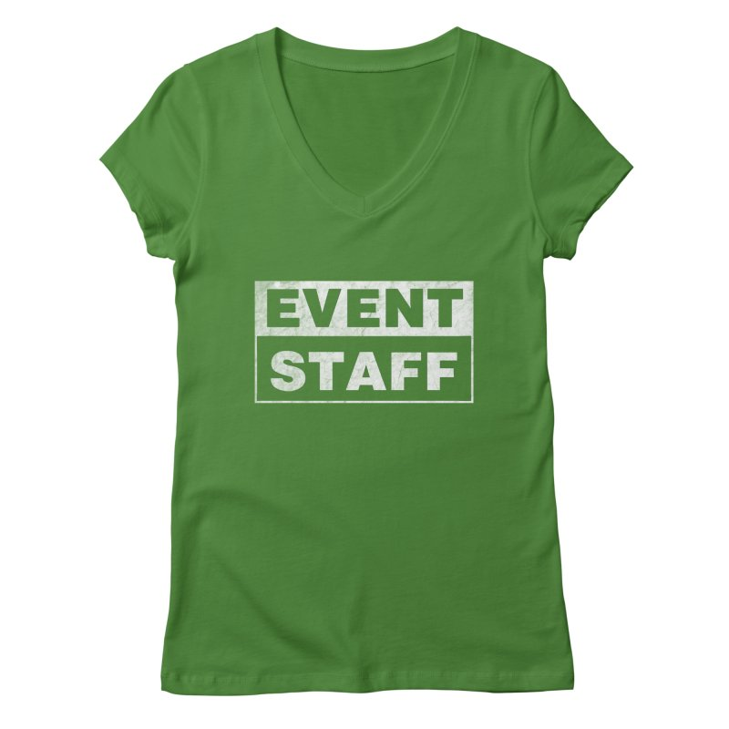 EVENT STAFF - Dark in Women's Regular V-Neck Leaf by ishCreatives's Artist Shop