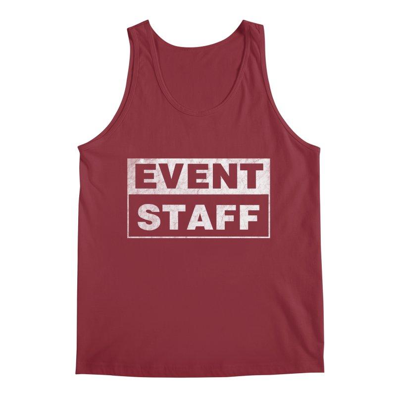 EVENT STAFF - Dark in Men's Regular Tank Scarlet Red by ishCreatives's Artist Shop