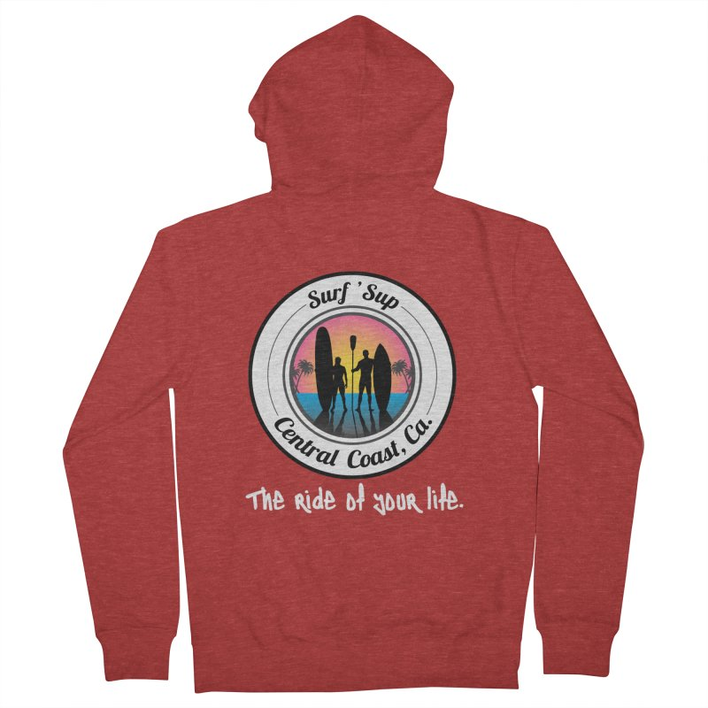 Surf 'SUP Central Coast - Zip Up Hoodies in Women's French Terry Zip-Up Hoody Heather Red by ishCreatives's Artist Shop