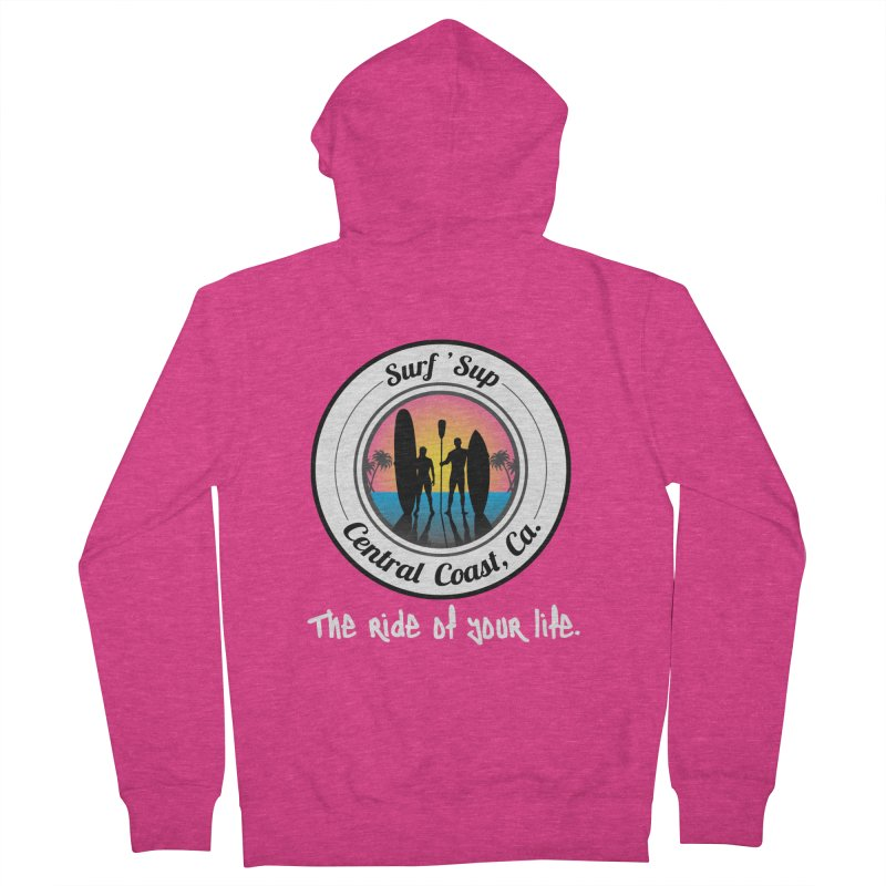 Surf 'SUP Central Coast - Zip Up Hoodies in Women's French Terry Zip-Up Hoody Heather Heliconia by ishCreatives's Artist Shop